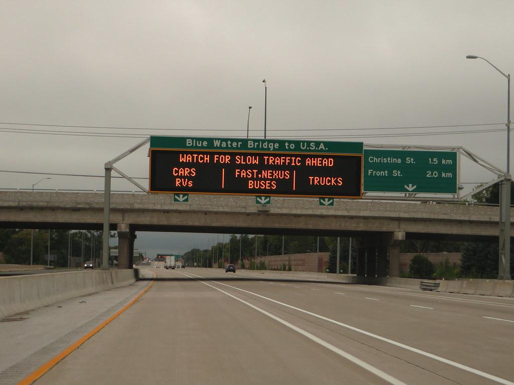 Highway 402 En Route to USA, Sarnia, Ontario