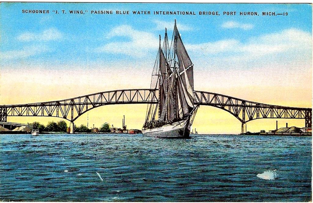 Port Huron JT Wing lumber schooner