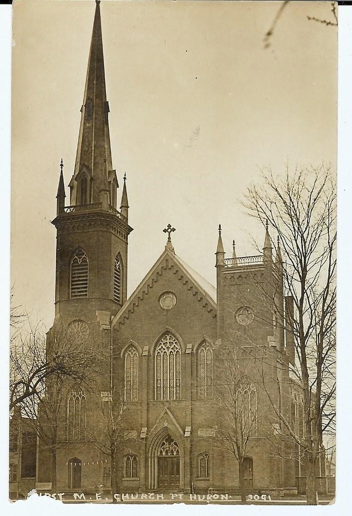 Pesha Photo 3091 -- First M. E. Church, Port Huron, Michigan.
